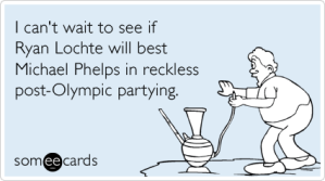 Michael Phelps and Ryan Lochte Olympic Swinning Sports Humor